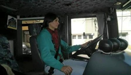 Jesica Carter, conductora del Colebus